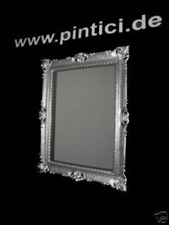 Wandspiegel silber 90x70 Spiegel BAROCK Rechteckig Antik mirror rechteckig NEU