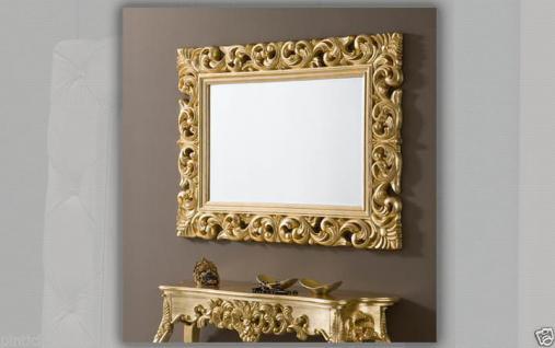Wandkonsole Gold + Wandspiegel Antik Frisieur Flurpiegel Barock Konsolentisch