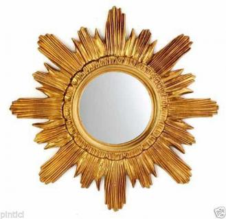 Wandspiegel Antik SPIEGEL GOLD SONNE 42cm RETRO SHABBY BAROCK BADSPIEGEL