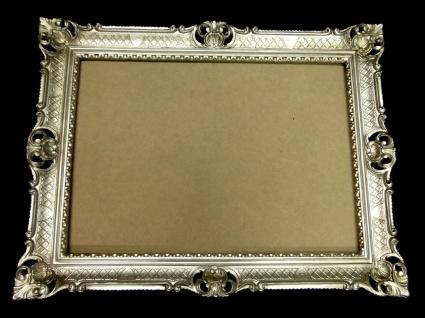 Bilderrahmen Jugendstil Antik Silber Rechteckig 90x70 BAROCK 70x50 mit Rückwand