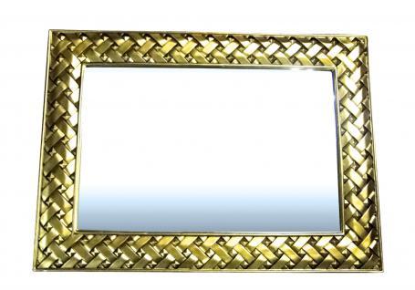 Wandspiegel rechteckig Barock Antik XXL120x90 Badspiegel GOLD Friseurspiegel