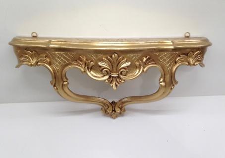 Wandkonsole/Spiegelkonsolen/Wandregal BAROCK ANTIK Gold :49x21x13cm cp68 - Vorschau 5