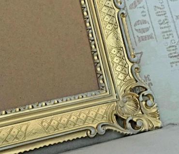 Bilderrahmen Gold Weiß 90x70 Barock mit Glas Hochzeitsrahmen Antik groß 50x70