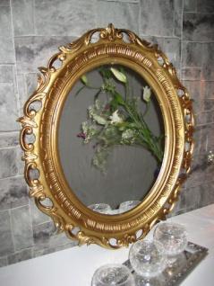 Wandspiegel Spiegel Gold Antik barock 58x68 cm Modern Oval rokoko 41 8 -