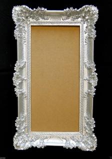 Bilderrahmen Silber Groß Barock 97x57 hochzeitsrahmen xxl Fotorahmen mit Glas
