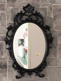 Wandspiegel Oval barock Gold Silber Schwarz Weiß 43x28cm Spiegel Antik Shabby - Vorschau 3