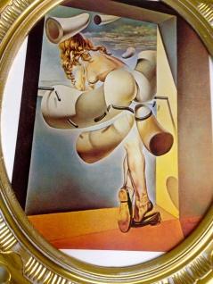 Bild mit Rahmen SALVADOR DALI Gemälde ANTIK BAROCK 58X68 Neu Bilderrahmen groß
