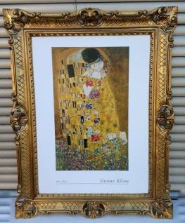Gustav Klimt The Kiss 90x70 Gemälde Wandbild Kunstdruck Barock Bild