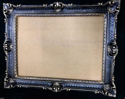 Fotorahmen Bilderrahmen Schwarz Gold Hochzeitsrahmen 90x70 Barock Gemälderahmen
