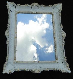 Wandspiegel Spiegel Barock Badspiegel Weiß-Gold Rechteckig 57x47 Antik Mirror - Vorschau 4