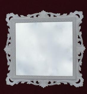 Wandspiegel Barock Weiß mit Glas 38x36 Barspiegel Weiß Hochglanz Antik - Vorschau 2