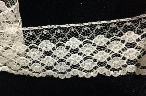 10 Meter Spitzenborte tüllspitze Weiß 35mm Tüllband Spitze Hochzeitsdeko Angebot