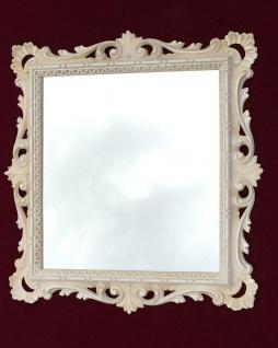 Wandspiegel Barock Antik Weiß 38x36 Barspiegel Beige Bad Spiegel Rahmen - Vorschau 2