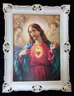 Bild mit Rahmen jesus Christus Gerahmte Gemälde Bilder 90x70 Ikonen Jesus H2