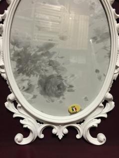 Bilderrahmen Barock Weiß Oval 43x27 Bilderrahmen Antik Fotorahmen C531 Photo - Vorschau 3
