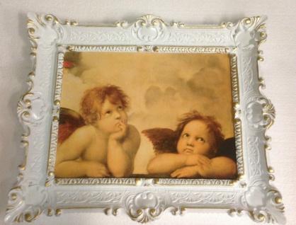 Bild mit Rahmen weiß-gold barock 56x46-30x40 Gemälde Antik Erzengel Raphael - Vorschau 5