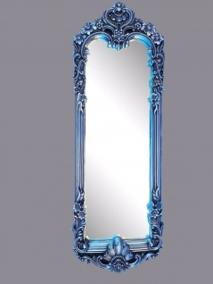 Wandspiegel Barock 161x55 Antik Silber Flurspiegel Rokoko Prunk großer Spiegel