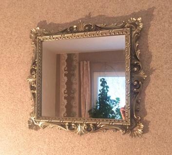 Wandspiegel Barock Antik Silber 38x36 Kosmetikspiegel Badspiegel Friseurspiegel - Vorschau 4