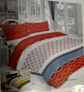 Bettwäsche Garnituren 4 tlg Baumwolle 200x220 Bettbezug 2 X Kissenbezug 50x70cm - Vorschau 4