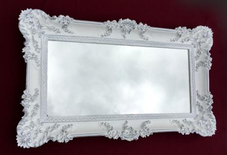 Wandspiegel Antik BAROCK RECHTECKIG 97x57 Flurspiegel Weiß-Silber 103074 spiegel