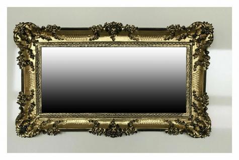 Barock Bad Spiegel Gold-schwarz Italienische Wandspiegel Antik 96x57 Modern Deko