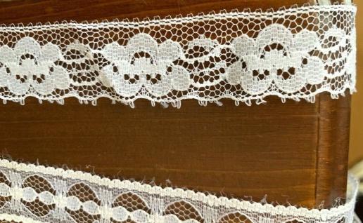 10 Meter Spitzenborte tüllspitze Weiß 25mm Tüllband Spitze Hochzeitsdeko Angebot - Vorschau 5