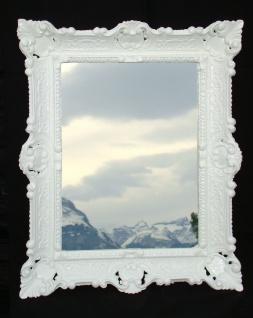 Spiegel Antik Wandspiegel Weiß BAROCKSPIEGEL Rechteckig 57x47 REPRO NEU