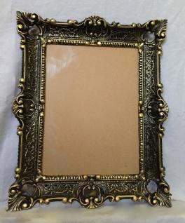 Bilderrahmen Schwarz-gold Barock+Glas Gemälde/Spiegel/Fotorahmen 56X46 Antik - Vorschau 5