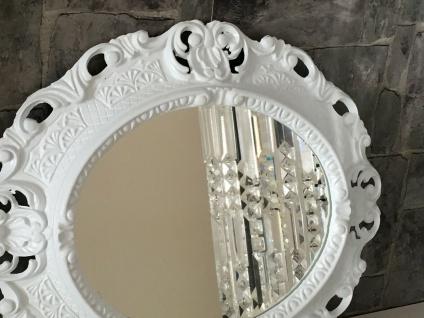 Bilderrahmen Oval barock+GLAS Gold Silber Schwarz Weiß 45x38 Fotorahmen Antik - Vorschau 4