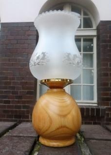 Tischlampe Antik Nachtischlampe Lampe HOLZ Tischleuchte Design Leselampe H:23cm