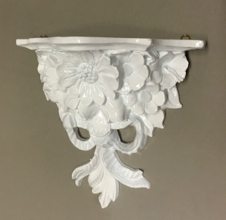 Wandkonsole Weiß BAROCK Konsole Deko Blumen 28x12 ANTIK Wandspiegel cp 81 Regal