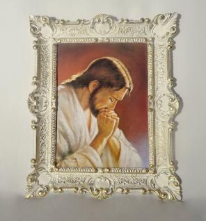 Gemälde Jesus Christus mit Goldschimmel religiöse Bild 56x46 Heiligenbilder