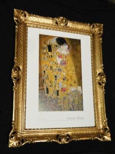 Der Kuss Gustav Klimt Gerahmte Bild 90x70 Gemälde Kunstdruck Rahmen Bilderrahmen