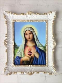 Gemälde mit Rahmen Christliche religiöse Bild Heilige Maria Bild 56x46 Jesus