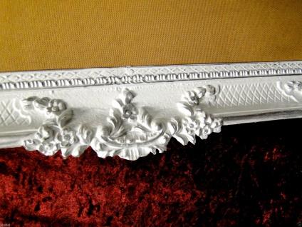 Bilderrahmen Weiß Silber Barock Gemälderahmen Prunk 97x57 Fotorahmen Antik - Vorschau 5