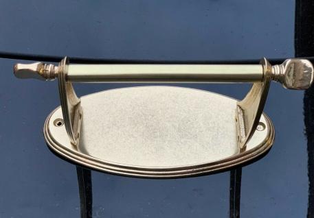 Toilettenpapierhalter Messing Gold Klopapierhalter Badzubehör 20x10 cm Massiv