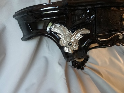 Wandkonsole/Spiegelkonsolen/Wandregal BAROCK ANTIK Schwarz-Silber B:50cm cp84 - Vorschau 4