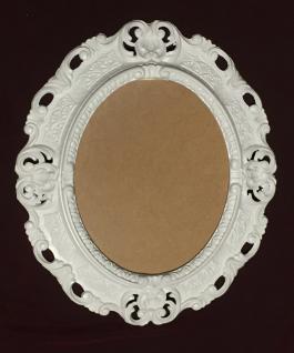 Bilderrahmen Barock Weiß Oval 45 x 37 Fotorahmen Antik Bilderrahmen mit Glas