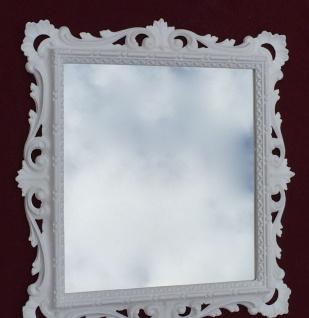 Wandspiegel Barock Weiß mit Glas 38x36 Barspiegel Weiß Hochglanz Antik - Vorschau 3