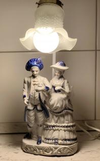 Tischlampe NACHTISCHLAMPE Porzellan Lampe, 44x11x16, Barock Mann & Frau paar