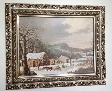 Bilder mit Rahmen Gerahmte Landschaftsbilder Schiffe, Winter Dorf Kutsche Druck