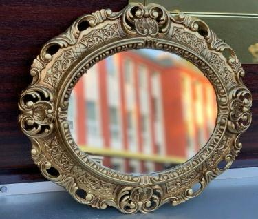 Wandspiegel Gold Spiegel Oval Barock Antik 45x38 Badspiegel Prunk Rokoko Spiegel