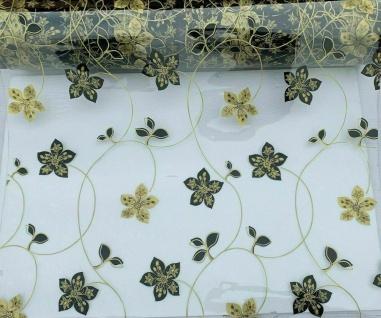 Tischschutz Folie 2mm Meterware Tischdecke Transparent Silber 80-120cm Breite