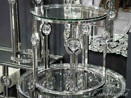 Couchtisch Edelstahl Glas Wohnzimmertisch 60x60cm Beistelltisch Design