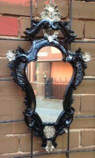 Wandspiegel Oval Schwarz Silber Barock Antik Badspiegel  57X32 COGSP-G spiegel