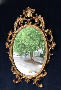 Wandspiegel Antik Gold Oval 43x27 Schminkspiegel Bad-Friseurspiegel C531