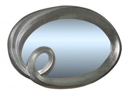 Spiegel oval Silber Modern ANTIK 125x95cm WANDSPIEGEL BAROCK- RAHMEN