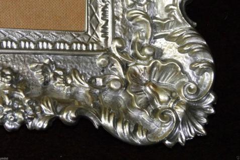 Bilderrahmen Antik Silber 96x57 Spiegelrahmen Gemälderahmen Barock Jugendstil - Vorschau 5