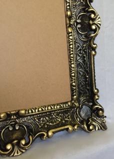 Bilderrahmen Schwarz-gold Barock+Glas Gemälde/Spiegel/Fotorahmen 56X46 Antik