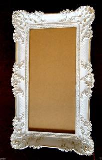 Bilderrahmen Weiß/Gold Barock Gemälderahmen Antik Rokoko 96x57 Rahmen Groß 3074 - Vorschau 5